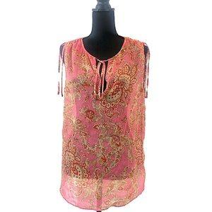 Talbot transparent sleeveless blouse